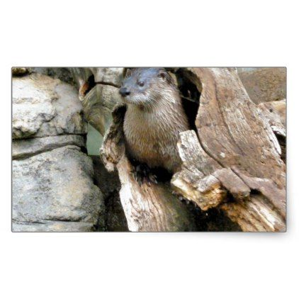 Harry Otter Rectangular Sticker - photography gifts diy custom unique special