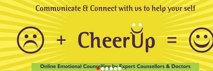 Cheer Up can provides psychological counseling in the areas of psychology, anxiety and depression, suicide tendency, Obesity and Diabetes,Drugs and Alcohol Abuse,Anger Management Therapy,Breakup emotional counseling, relationship problems and emotional issues.