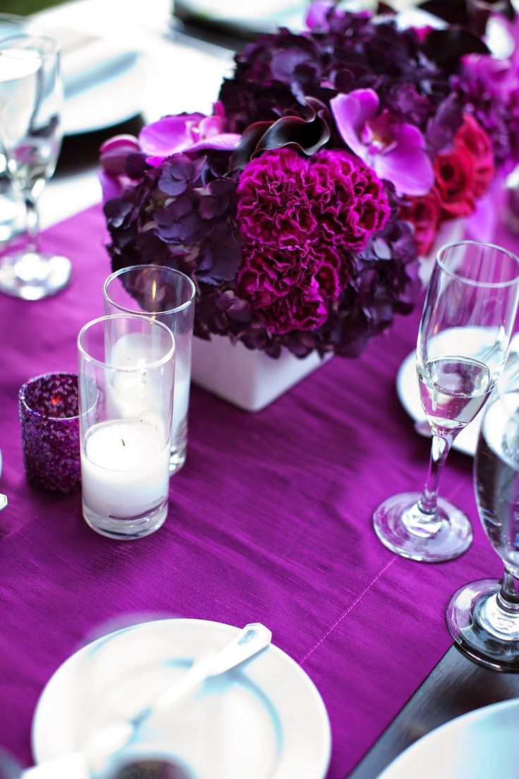 Best purple wedding theme images on pinterest