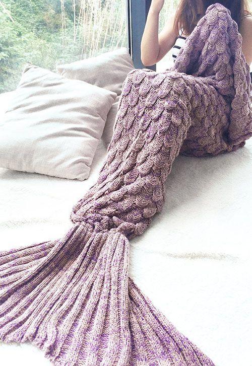Fish Scale Mermaid Tail Crochet Blanket