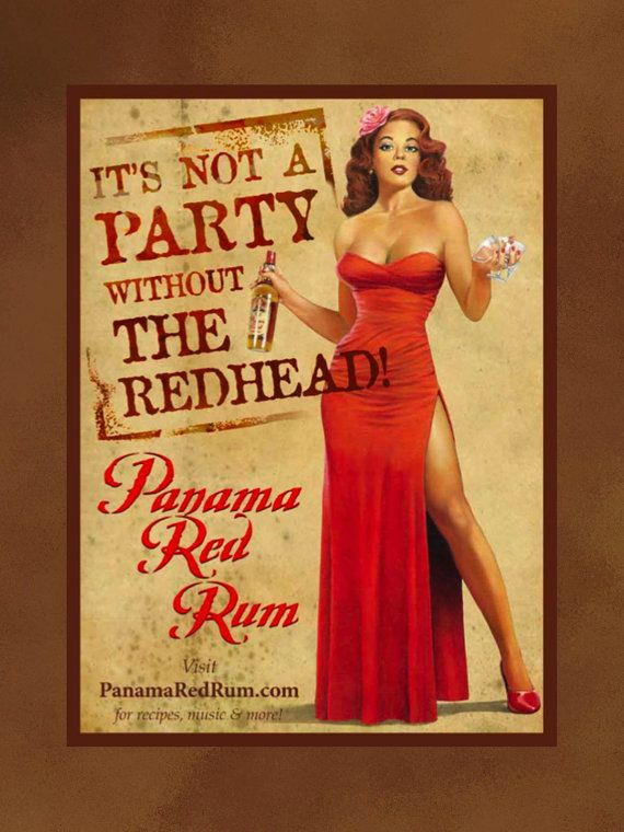 Panama Red Rum Poster  Its Not A Party Without by ArleyArtEmporium, $11.99