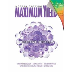 In the September issue of Maximum Yield, in addition to our cover story on how to use hydrogels in a hydroponic garden, longtime contributor Grubbycup explains that it's okay to have an imperfect garden. We also feature tips on sealing a growroom, planning the best layout for your grow lights, and how to avoid nutrient burn. We also hope you'll find our features on aquaculture, solar-powered greenhouses, growing hydroponic spinach, and powdered nutrients helpful.