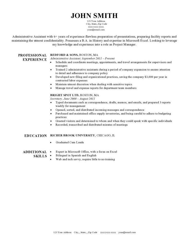 49++ Secretary resume sample in word Examples