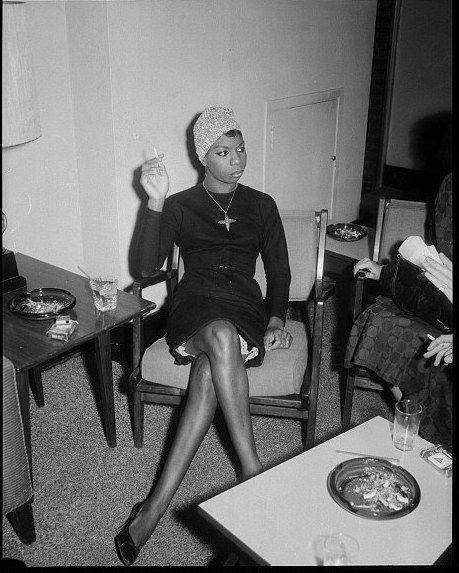 "Nina Simone by Pittsburgh photography icon Charles ""Teenie"" Harris, circa 1965."