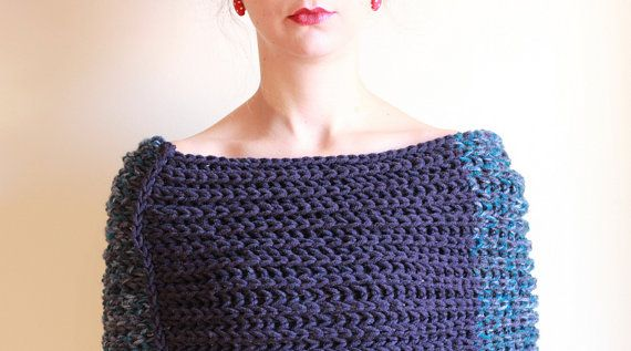 The one with the double twotoned blue cowl by winkitywink on Etsy