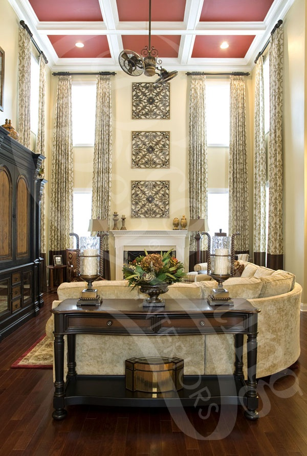 17 best images about decor family room curtains on for Decorating a long wall in a family room