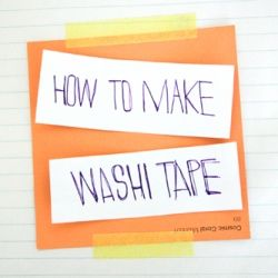 Always loved the look of washi tape but find it a little too expensive to justify? Why not make your own!