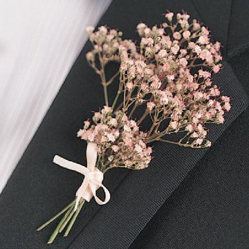Babies Breath Boutonnieres - Over 3000 photos of Wedding Flowers, Cakes & More