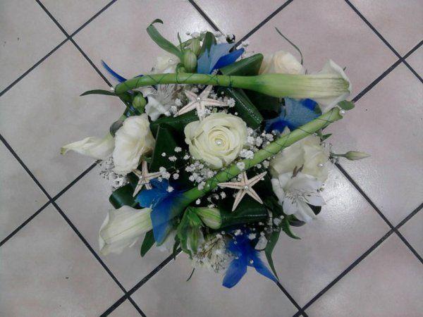 Bouquet mari e bleu th me mer bouquet pinterest weddings - Bouquet mariee bleu ...
