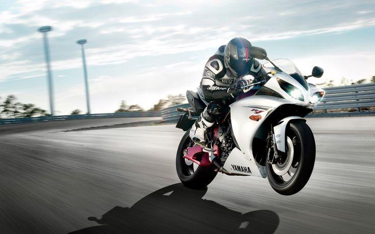 del circuito de carreras de motos de pista Yamaha