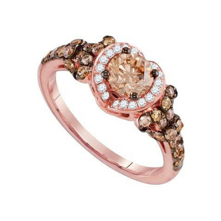 1 1-3CTW-DIAMOND BROWN RING