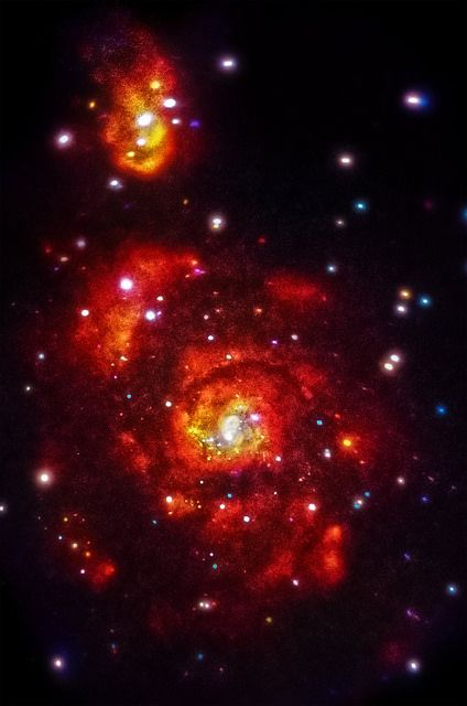 Detail: Three-Color X-ray View, Whirlpool Galaxy (NASA, Chandra, 06/03/14) | Flickr - NASA's Marshall Space Flight Center