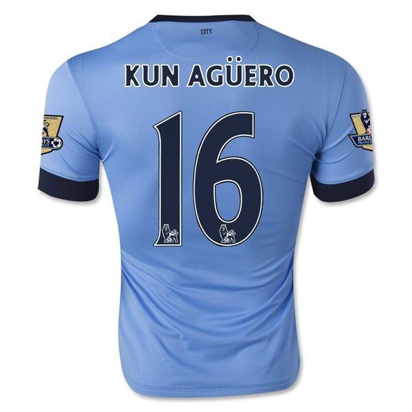 Camiseta Manchester City Local 14/15 KUN AGUERO#16 *Envío Gratis!  * Facebook: MundoFutbol