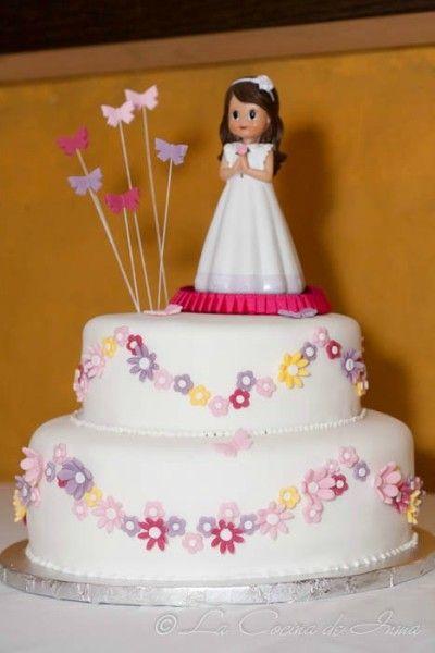 Tarta Fondant  Mariposas y flores / Fondant cake butterflies and flowers