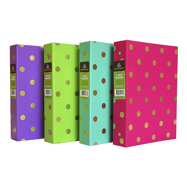 greenroom 1in mini gold accent ring binder   target