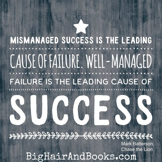 Success and Failure quote from Chase the Lion by Mark Batterson #mustread…
