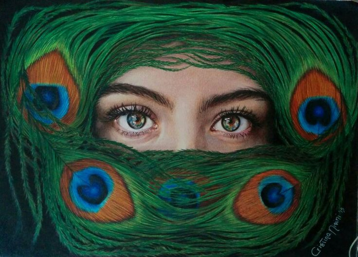 My drawing: colour pencils on paper, 2015. Visit my page: www.facebook.com/limaelabor #draw #drawing #art #arist #drawer #peacock #peacockeyes #eyes #peacockfeather #woman #disegno #disegnare #artista #disegnatrice #pavone #occhidipavone #piumadipavone #donna #sguardo