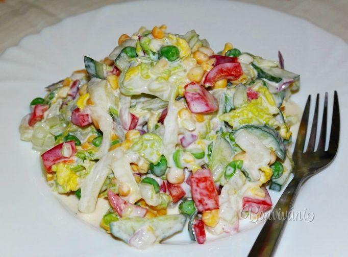 Zeleninový pochúťkový šalát • bonvivani.sk