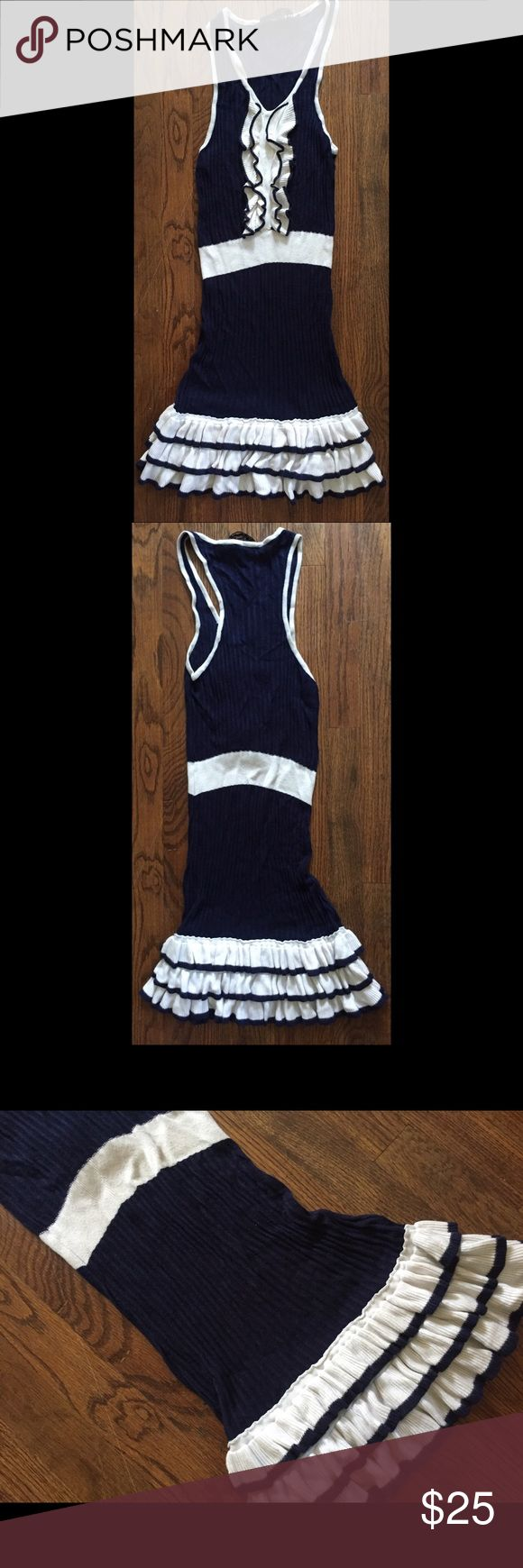 Juicy couture 20's themed dress Juicy couture 20's themed dress navy and white Juicy Couture Dresses Mini