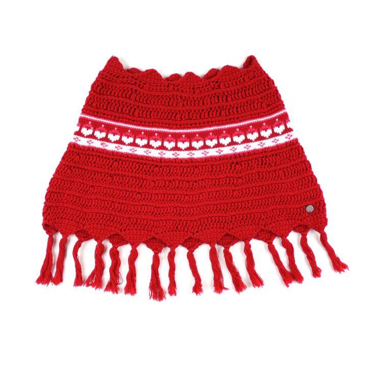 Souris Mini sweater, Souris Mini poncho, red poncho, Souris Mini at Changeroo
