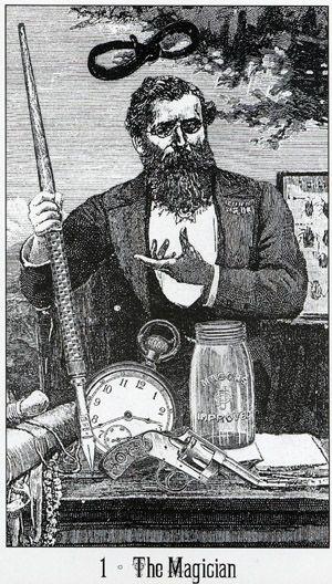 The Magician from Victoria Regina Tarot.