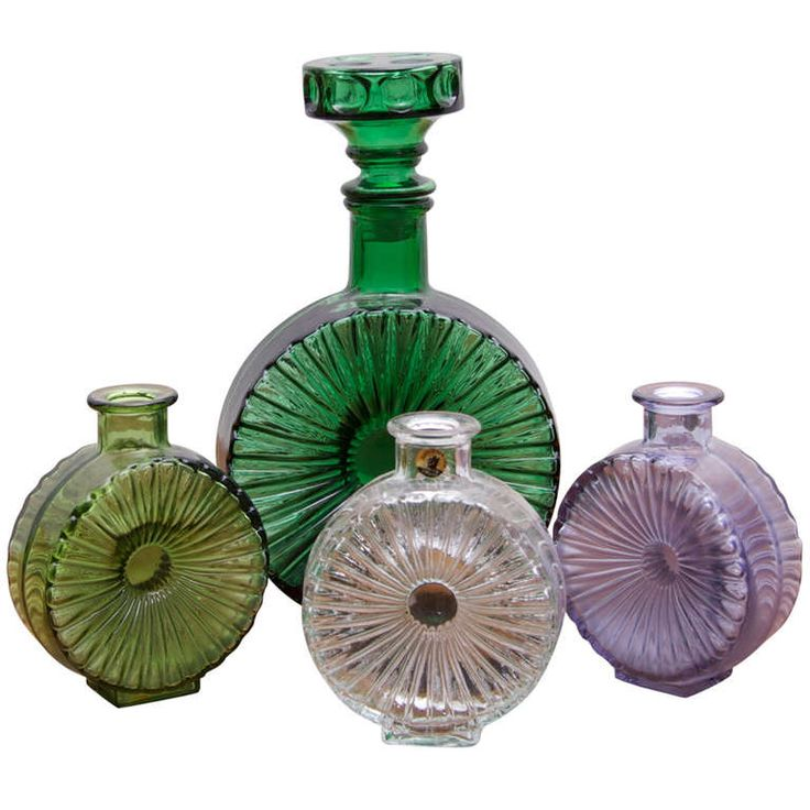 Helena Tynell Aurinkopullo Vases for Riihimäen Lasi Finland | From a unique collection of antique and modern glass at http://www.1stdibs.com/furniture/dining-entertaining/glass/