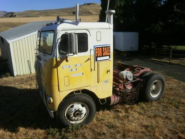 1965 White 4000 Semi Tractor : Best images about throwback freightliner trucks on