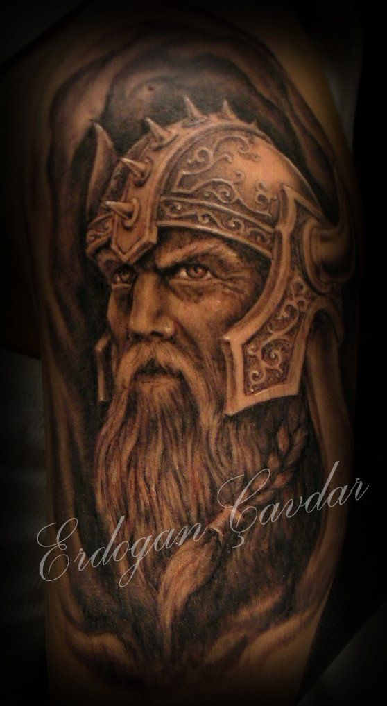 viking warrior tattoo by ErdoganCavdar