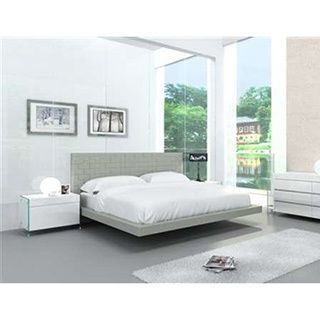 Zack Collection Gray Eco-leather Bed by Casabianca Home