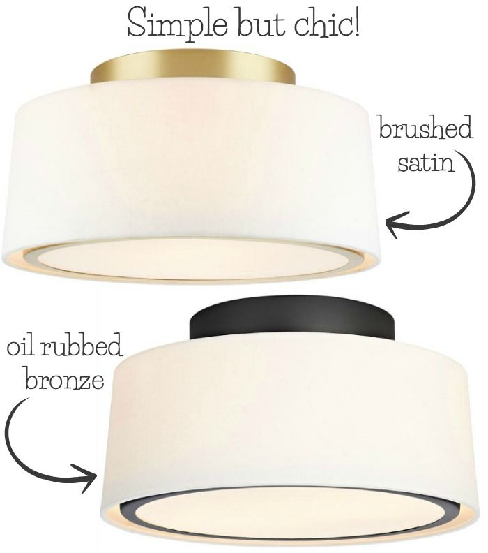 LOVE this simple but chic flush mount ceiling light - one of my favorites in this post!