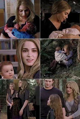 this is the whole Cullen family with Bella=s new daughter