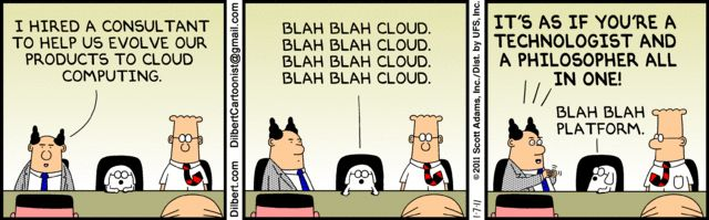 What? Did I hear you say #cloud? That must be a perfect #business #strategy! #funny #humor www.blog.ringcent…