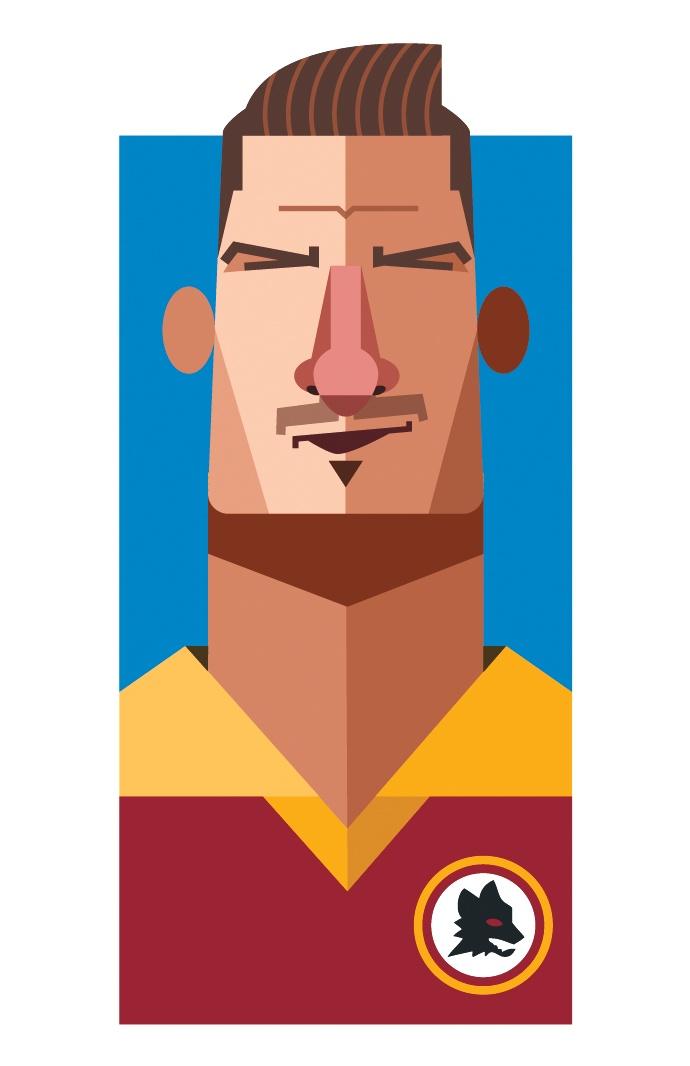 Francesco Totti, by Daniel Nyari