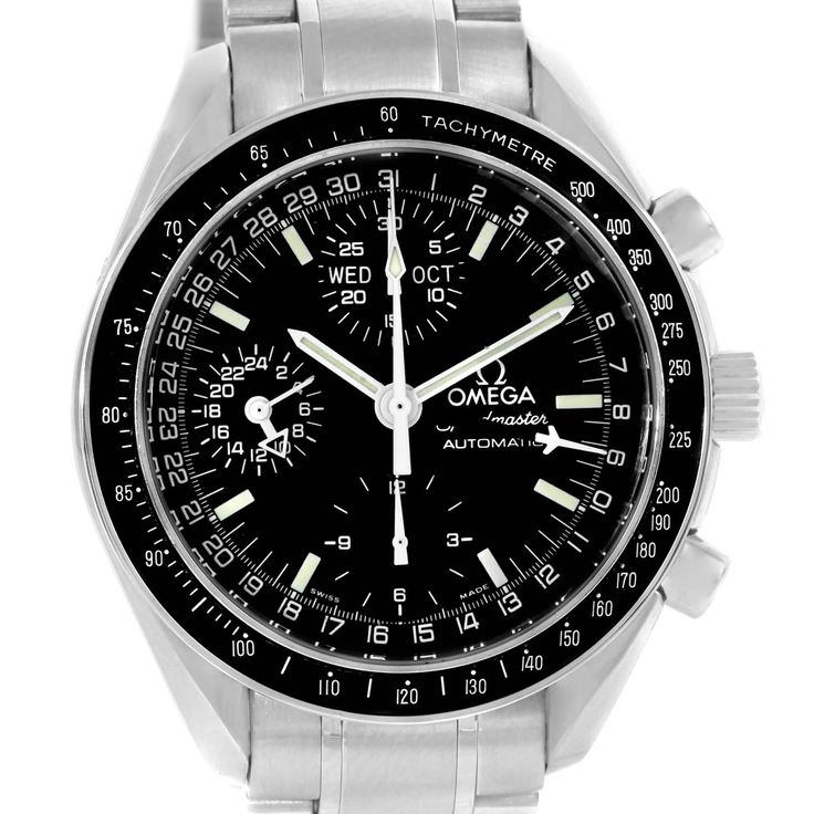 14908 Omega Speedmaster Day Date Black Dial Automatic Mens Watch 3520.50.00 SwissWatchExpo