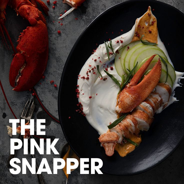 The pink snapper #fresh #cream #lobster #tarragon #mustard #apple #peppercorn #recipe #appetizer #meal #idea #friends