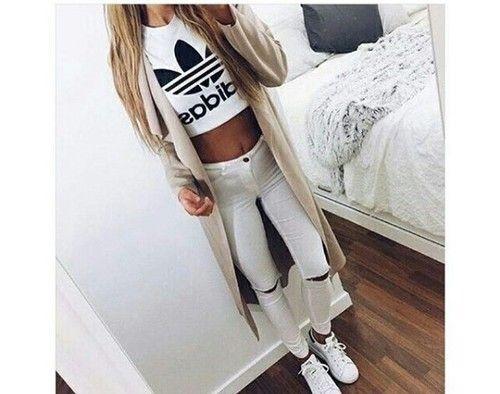 Imagem de fashion, adidas, and white
