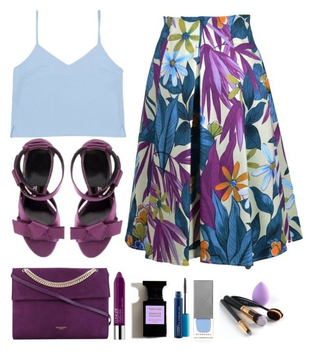 """""""Floralicious."""" by emi-the-queen ❤ liked on Polyvore featuring Eggs, Nina Ricci, Clinique, MAC Cosmetics, Burberry, floral, skirt and 60secondstyle"""