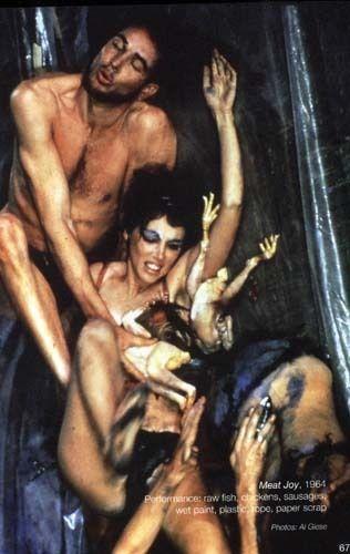 Meat Joy, Carolee Schneemann, 1964 - far better than yves klein's anthropometries!