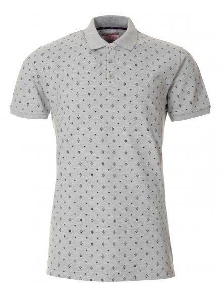 Twisted Soul Mens Grey Patterned Polo shirt