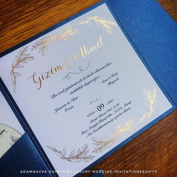 Kişiye özel düğün davetiyesi - Wedding Invitation with Gold Foil