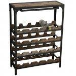 Industrial Vintage Wine Rack | theorchardhomeandgifts.com | Warehouse Home Design Magazine