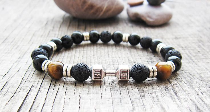 big brother gifts great gifts for men bracelets mens bead bracelets gents bracelet mens black bracelet protection bracelets lava bracelets by JaneRJewelry on Etsy