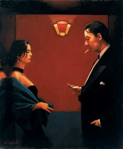Jack Vettriano A Letter of Consequence oil painting for sale