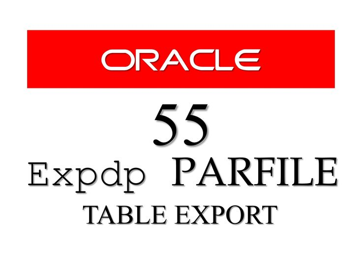 Checkout the latest tutorial on how to export tables in #oracle #database also learn the concept of Parameter File (PARFILE) in expdp Data pump. #RebellionRider #SQL