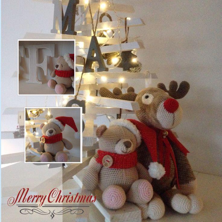 #Mykrissiedolls #rudolf #krissiebeer #crochet #haken #kerst #christmas