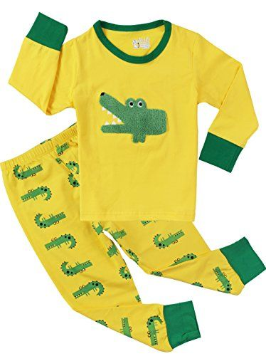 Crocodile Pajamas for Boys Sleepwear Kids Cotton 2 Piece Clothes Pants Sets * See this great image @