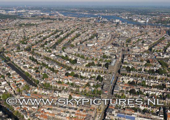 Centrum van Amsterdam met grachtengordel