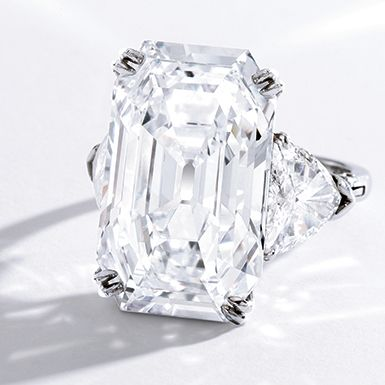 Sotheby's is back again with September's Important Jewels Auction, beginning in New York on Sept. 24. The crown jewel of the auction is a 19.51 carat Harry Winston platinum and diamond ring, expected to bring in record breaking prices of $1.2-$1.8 million. The emerald step cut center stone is flanked by two trillion cut diamonds, a …