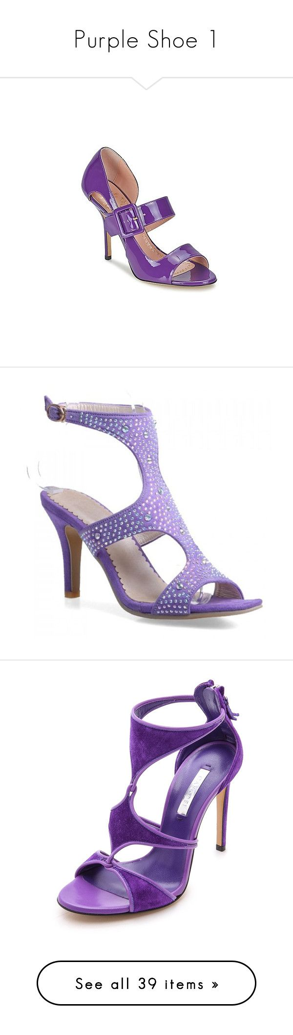 """""""Purple Shoe 1"""" by sunnyia ❤ liked on Polyvore featuring shoes, sandals, heels, purple, women, heeled sandals, purple shoes, genuine leather shoes, leather heeled sandals and purple sandals"""