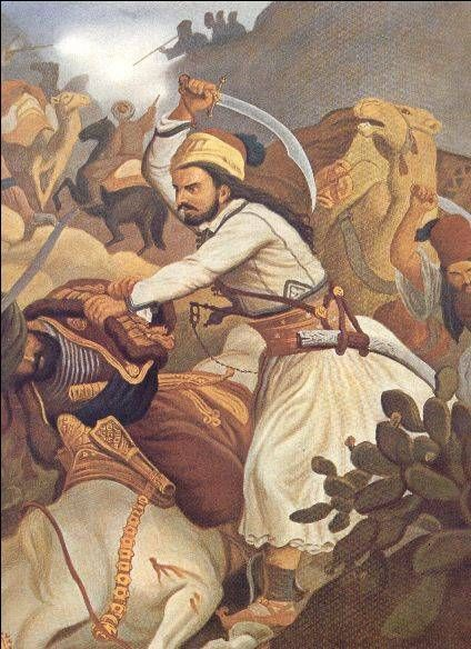 The battle of Vassilika secured much of Central Greece for the revolutionaries. Painting by Peter von Hess.